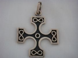 Sterling Silver Cross - Vintage Pendant by Ola Gorie - Celtic Cross Pendant  (SOLD)